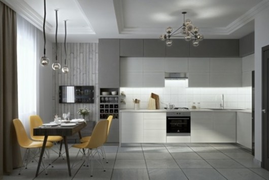 esquemas de colores de cocina atemporales Estupendos Diseos De Cocinas Blancas Y Grises