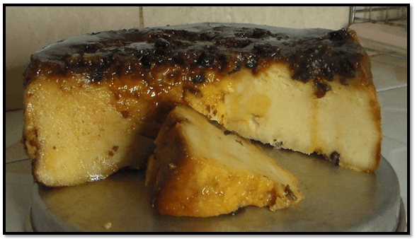 Torta De Pan Sin Huevo