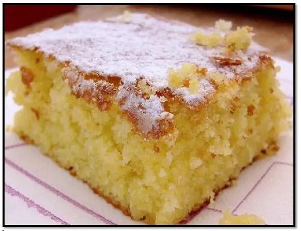 Torta De Vainilla Húmeda