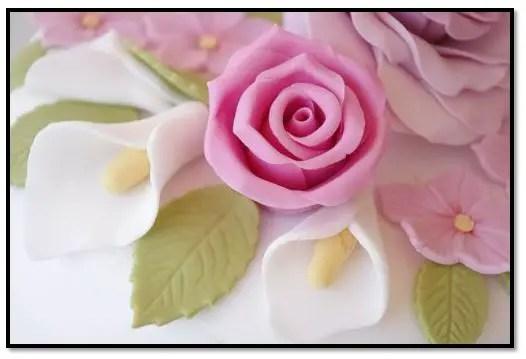 tipos de flores de fondant,