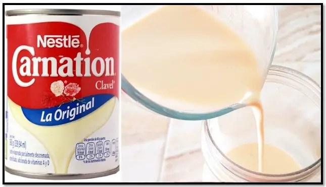 usos de la leche evaporada