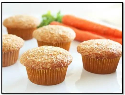 como hacer muffins de zanahoria