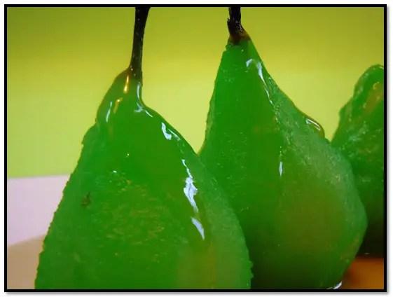 peras a la menta