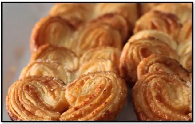 receta de palmeritas de panadería