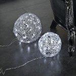 Esferas con luz de navidad