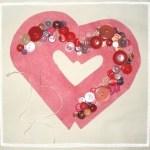 Corazón colgante de San Valentin