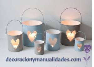 luces romanticas con material reciclable