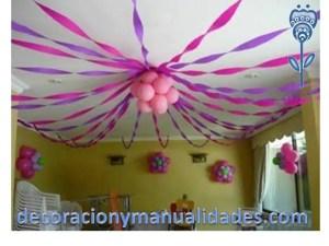 como arreglar el techo para decoracion de fiesta baby shower