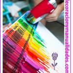Cuadro decorativo pintura de crayolas