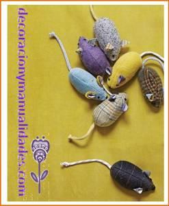 ratones de tela para mascotas