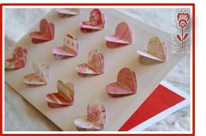 tarjeta de san valentin corazones 3d