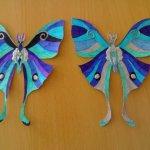 Prensa papel de mariposa