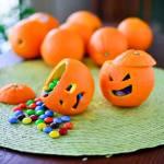 Manualidades para el día Halloween con Mandarinas