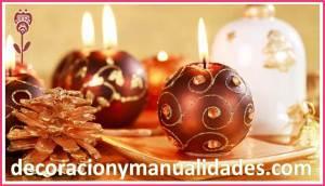 veladoras de esferas navideñas