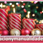 Velas de Navidad decoradas con brillantina