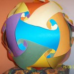 GLOBO DECORATIVO CON PAPEL