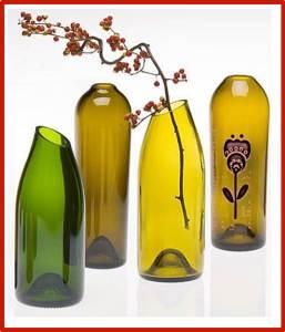 floreros de vidrio cortado reciclado