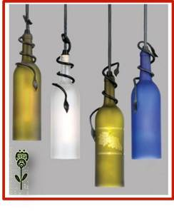 lamparas elegantes con vidrio cortado y reciclado