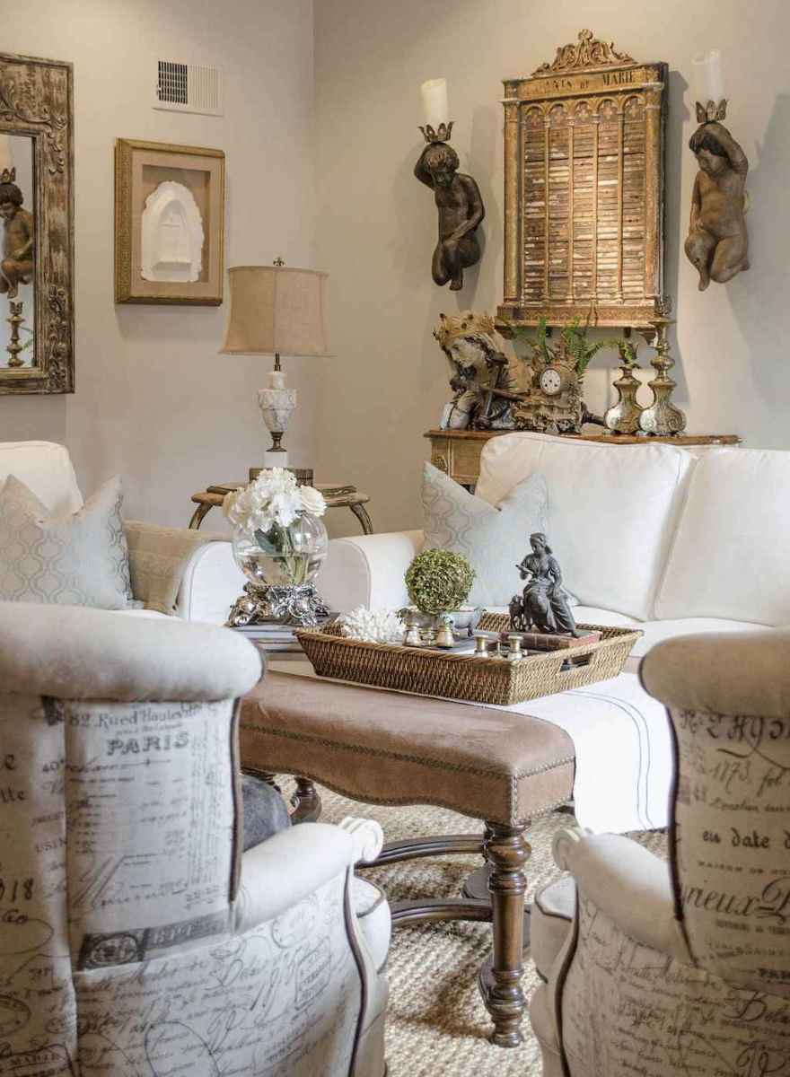 54 Elegant French Country Living Room Decor Ideas