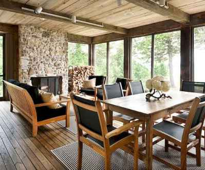 01 Beautiful Wooden and Stone Front Porch Ideas