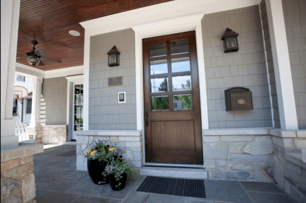 03 Beautiful Wooden and Stone Front Porch Ideas
