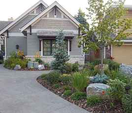 24 Gorgeous Front Yard Rock Garden Landscaping Ideas