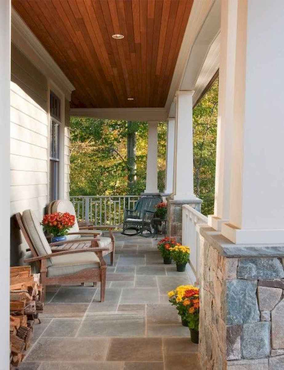 29 Beautiful Wooden and Stone Front Porch Ideas