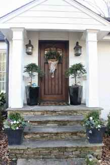 34 Beautiful Wooden and Stone Front Porch Ideas