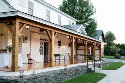 44 Beautiful Wooden and Stone Front Porch Ideas