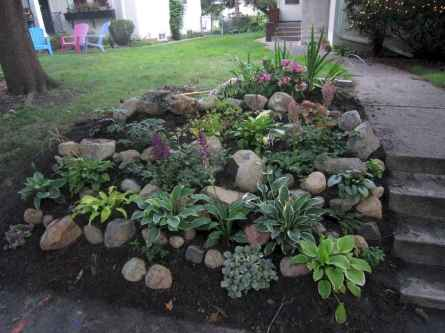 62 Gorgeous Front Yard Rock Garden Landscaping Ideas