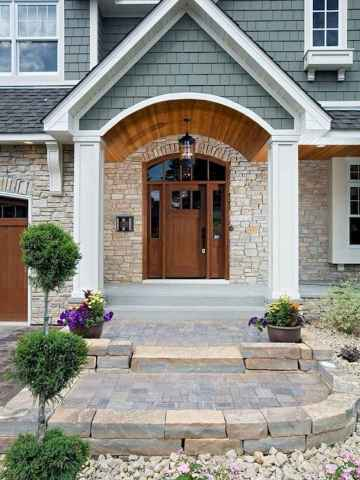65 Beautiful Wooden and Stone Front Porch Ideas
