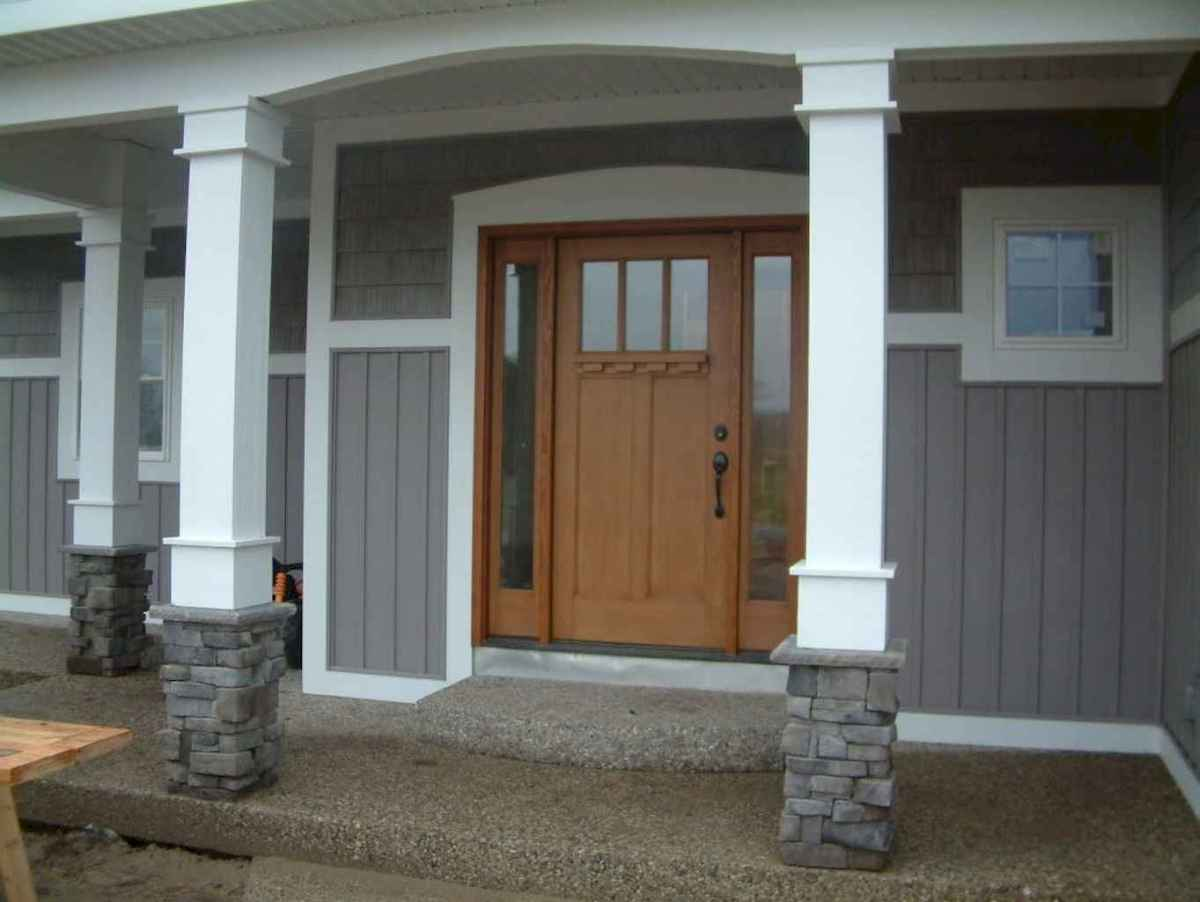 85 Beautiful Wooden and Stone Front Porch Ideas