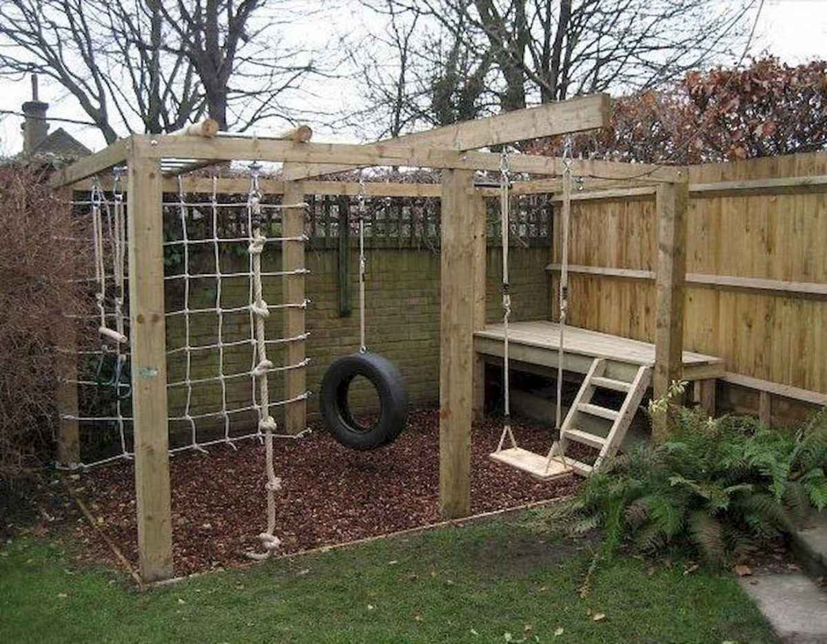02 Exciting Small Backyard Playground Kids Design Ideas