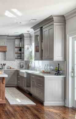 06 Gorgeous Gray Kitchen Cabinet Makeover Design Ideas