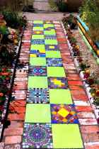 42 Magnificent DIY Mosaic Garden Path Decorations For Your Inspiration