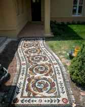 43 Magnificent DIY Mosaic Garden Path Decorations For Your Inspiration