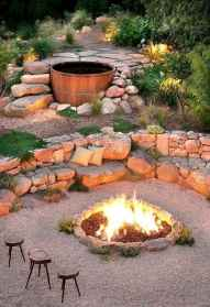 53 Awesome Backyard Fire Pits with Seating Ideas