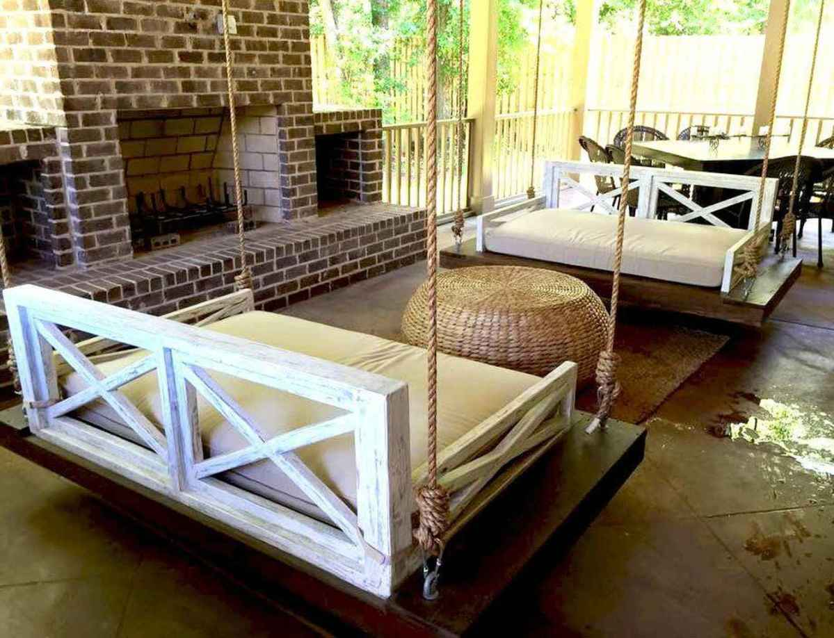 06 Awesome Farmhouse Porch Swing Plans Ideas