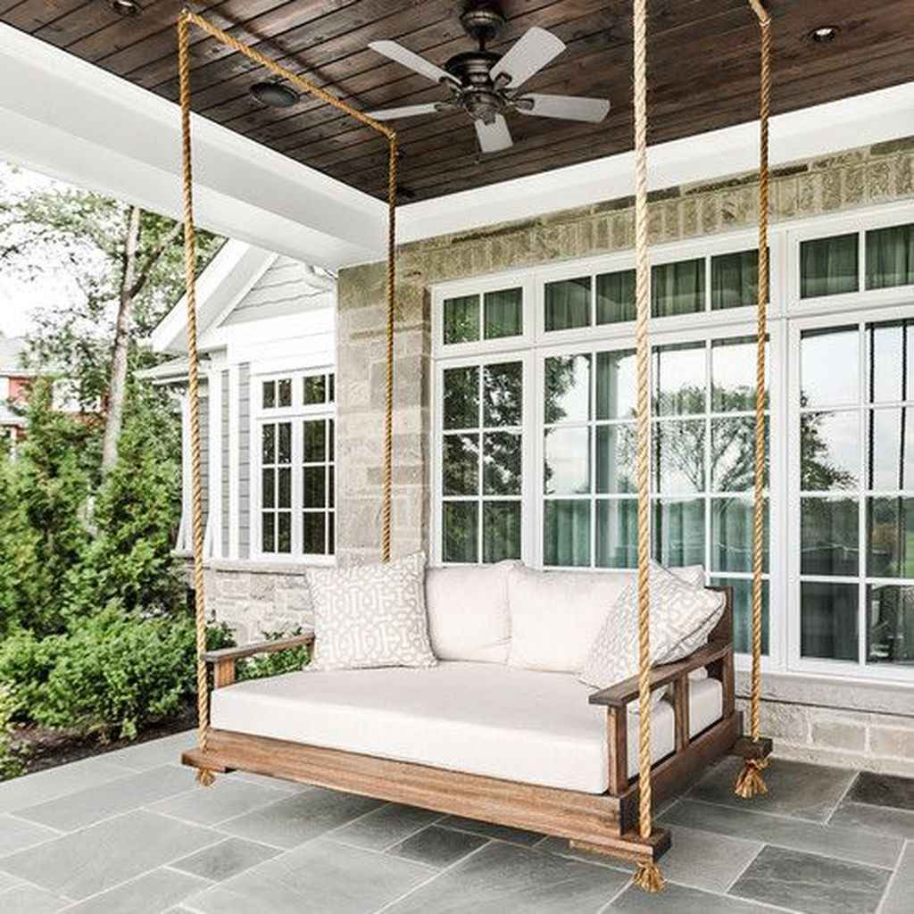 15 Awesome Farmhouse Porch Swing Plans Ideas
