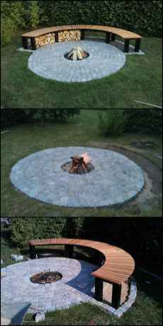 34 Easy Cheap Backyard Fire Pit Seating Area Design Ideas