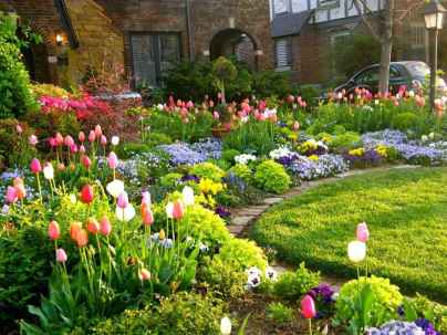37 Fresh and Beautiful Front Yard Flowers Garden Landscaping Ideas
