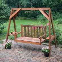 48 Awesome Farmhouse Porch Swing Plans Ideas