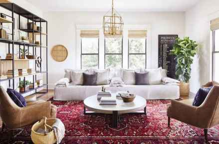 52 Best Modern Farmhouse Living Room Rug Decor Ideas