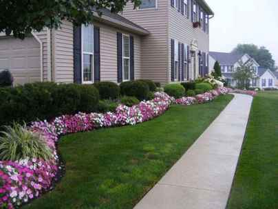 55 Fresh and Beautiful Front Yard Flowers Garden Landscaping Ideas