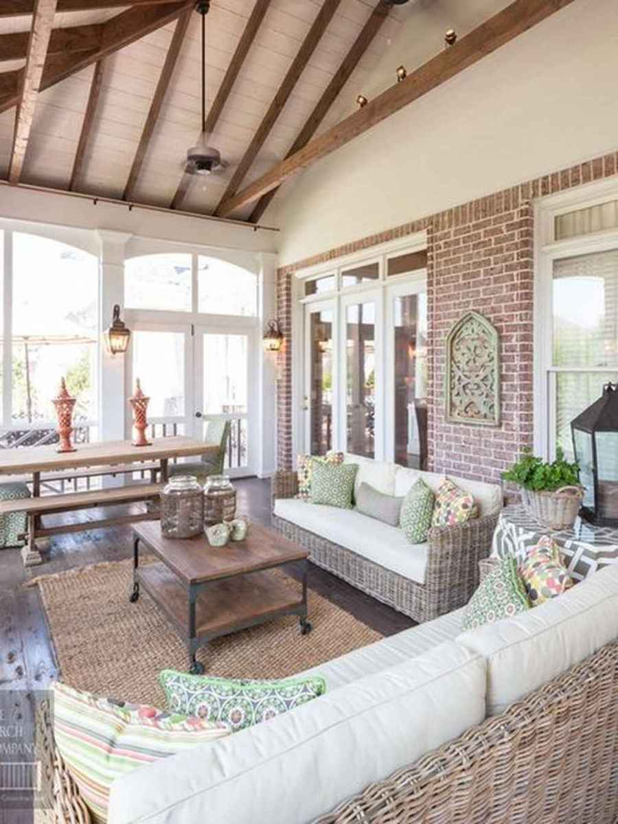 55 Small Front Porch Seating Ideas for Farmhouse Summer