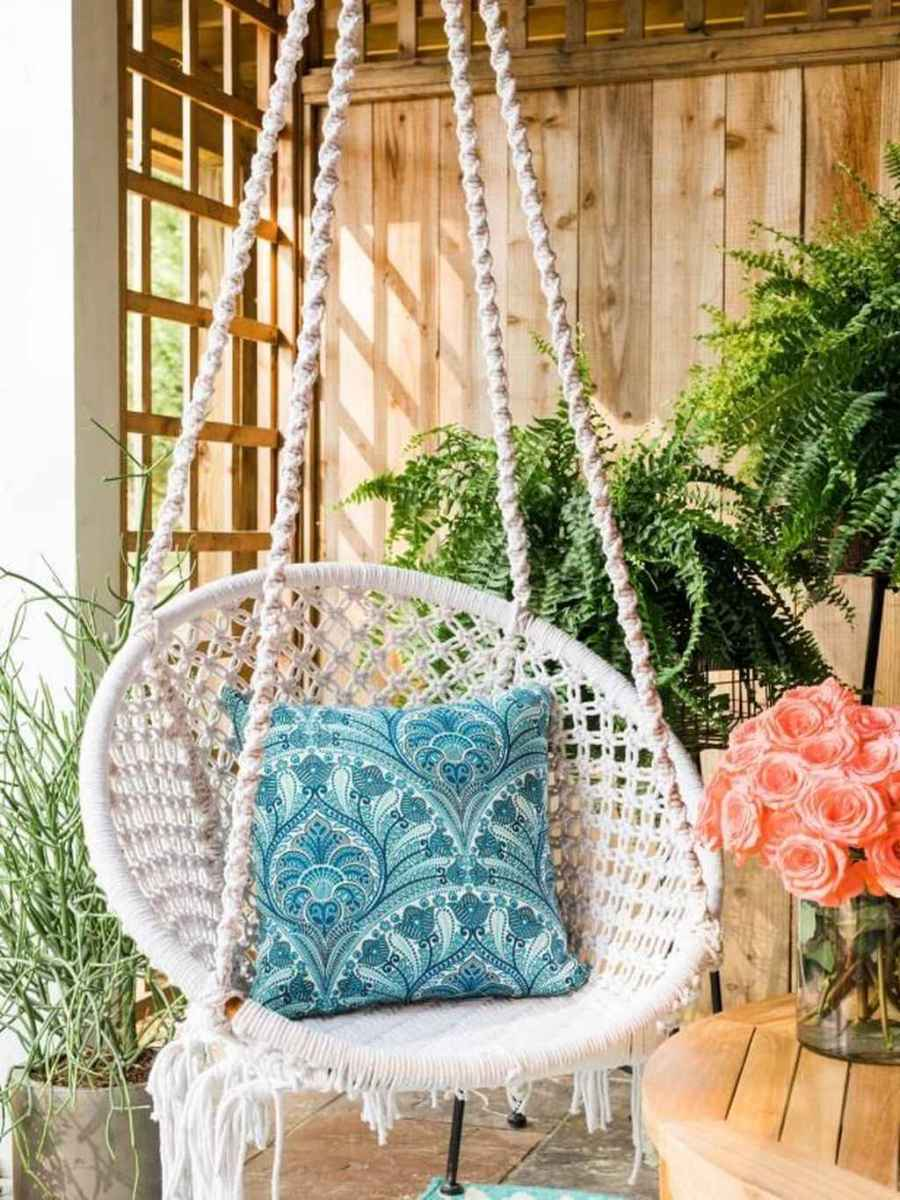 63 Small Front Porch Seating Ideas for Farmhouse Summer