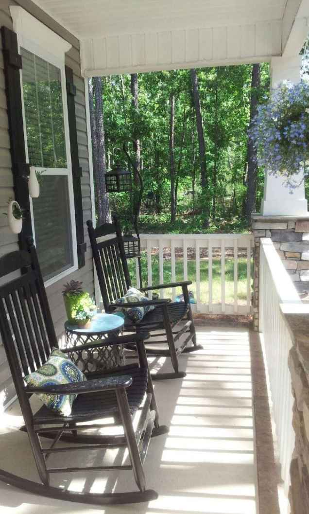 75 Small Front Porch Seating Ideas for Farmhouse Summer
