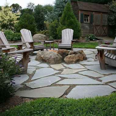 84 Easy Cheap Backyard Fire Pit Seating Area Design Ideas