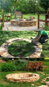 92 Easy Cheap Backyard Fire Pit Seating Area Design Ideas