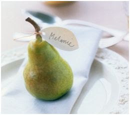 nombres de mesa en una pera
